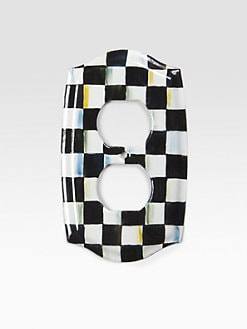 MacKenzie-Childs - Courtly Check Double Outlet Cover