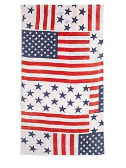 Fresco - American Flag Beach Towel