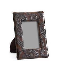 Etro - Bette Paisley-Embossed Leather Frame