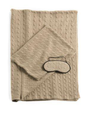 Cashmere Cable-Knit Travel Set