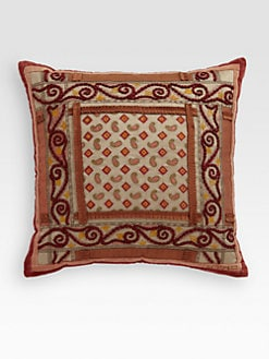Etro - Brading Embroidered Paisley Accent Pillow