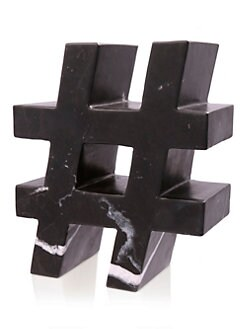 Kelly Wearstler - Marble Hashtag Sculpture