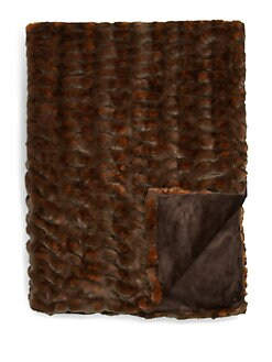 Lillian August - Sheared Faux Mink Throw