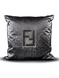 Fendi Casa - Swarovski Crystal Fendi Logo Pillow