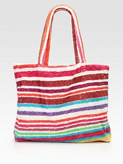 Fresco - Rainbow Stripes Terry Tote Bag
