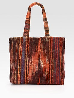 Fresco - Ikat Striped Terry Tote Bag