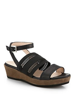 Aquatalia by Marvin K - Banjo Strappy Wedge Sandals