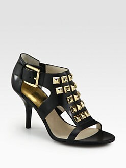 MICHAEL MICHAEL KORS - Aria Studded Leather Sandals