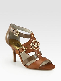 MICHAEL MICHAEL KORS - Rustin Logo-Detail Leather Sandals