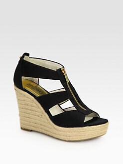 MICHAEL MICHAEL KORS - Damita Canvas Espadrille Wedges