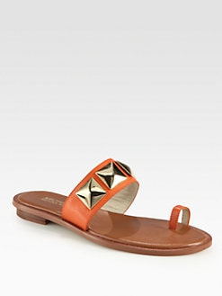 MICHAEL MICHAEL KORS - Persia Studded Leather Thong Sandals