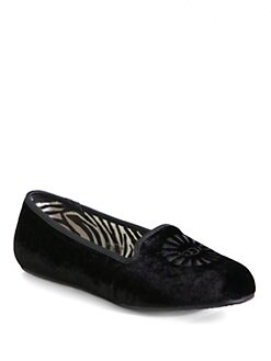 UGG Australia - Alloway Velvet & Leather Smoking Slippers