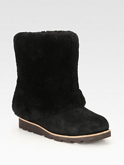 UGG Australia - Maylin Suede & Shearling Cuff Ankle Boots