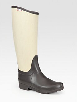 Hunter - Regent Cotton and Rubber Rain Boots