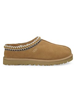 UGG Australia - Tasman Embroidered Suede Closed-Back Slippers