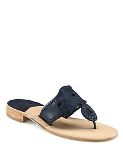 Jack Rogers - Leather Nantucket Thong Sandals