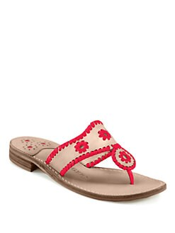Jack Rogers - Vachetta Leather Thong Sandals