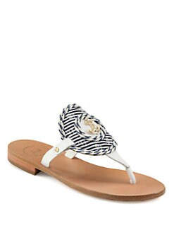 Jack Rogers - Spinnaker Leather Thong Sandals