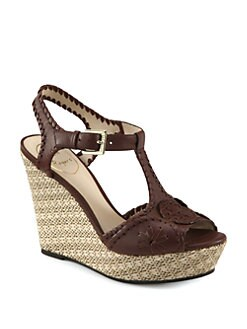 Jack Rogers - Salinger Leather Wedge Sandals