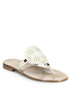 Jack Rogers - Georgica Leather Thong Sandals