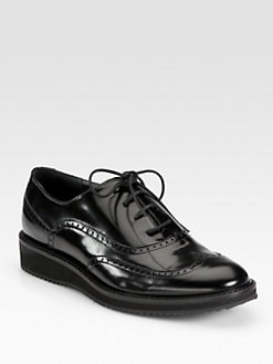 Aquatalia by Marvin K - Xandra Leather Lace-Up Oxfords