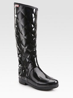 Hunter - Regent Quilted Knee-High Boots
