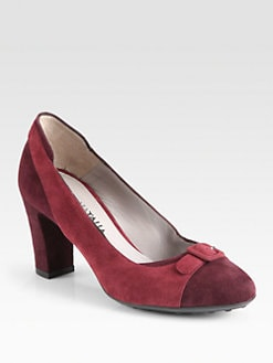 Aquatalia by Marvin K - Tasha Suede Buckle Pumps