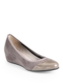 Aquatalia by Marvin K - Urla Suede Wedge Pumps