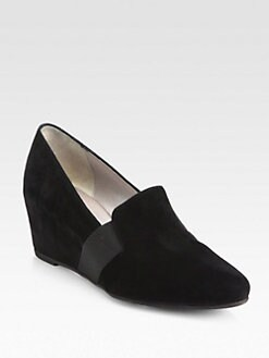 Aquatalia by Marvin K - Paige Suede Wedge Slippers