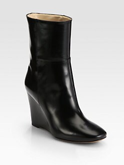 Marvin K - Essence Leather Wedge Mid-Calf Boots