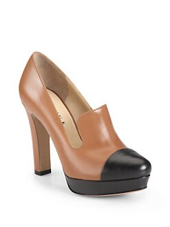 Marvin K - Force Bicolor Leather Loafer Pumps