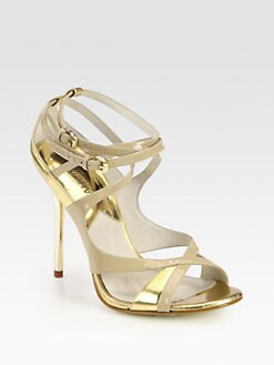 MICHAEL MICHAEL KORS - Michela Patent Leather Sandals
