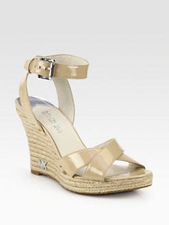 MICHAEL MICHAEL KORS - Kami Patent Leather Espadrille Wedge Sandals
