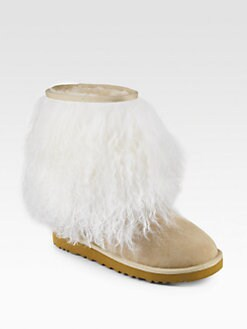 UGG Australia - Sheepskin-Cuff Suede Short Boots