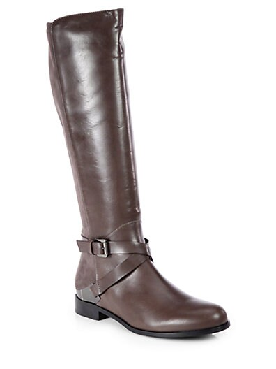 Darla Suede and Leather Riding Boots