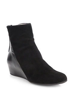 Aquatalia by Marvin K - Ursa Suede and Leather Ankle Boots