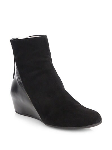 Ursa Suede and Leather Ankle Boots