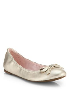 Jack Rogers - Regina Metallic Leather Ballet Flats