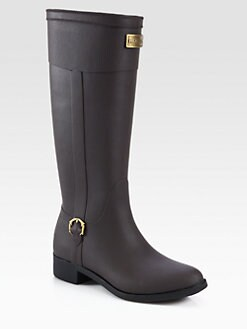 Hunter - Belsize Beckley Faux Leather Rain Boots