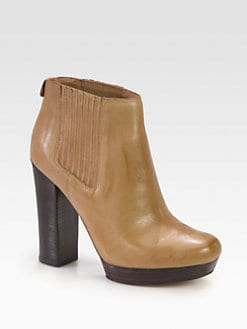 MICHAEL MICHAEL KORS - Emory Leather Platform Ankle Boots