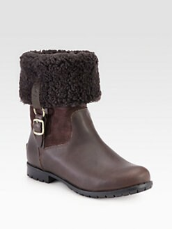 UGG Australia - Bellvue Shearling-Lined Leather & Suede Boots