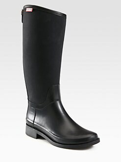 Hunter - Nylon & Rubber Rain Boots