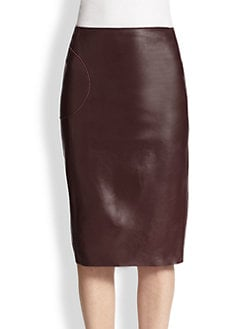 Raoul - Leather Bree Pencil Skirt