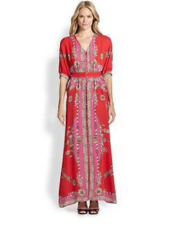 Marchesa Voyage - Silk Scarf Maxi Dress