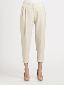 Halston Heritage - Cropped Tapered-Leg Trousers