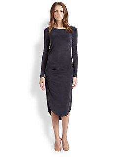 Halston Heritage - Jersey Fishtail-Hem Dress