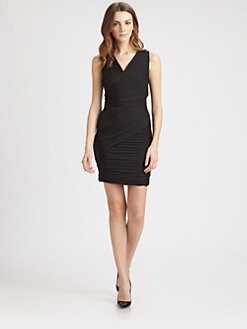 Halston Heritage - Pleated Body-Con Dress