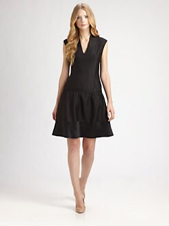 Raoul - Silk/Cotton Dropped-Waist Dress
