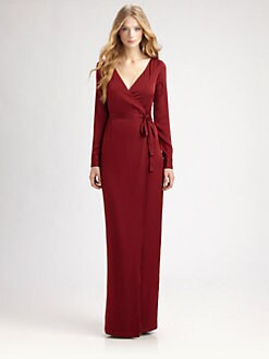 Raoul - Stretch Silk Wrap Gown