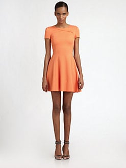 Halston Heritage - Cross-Neck Dress
